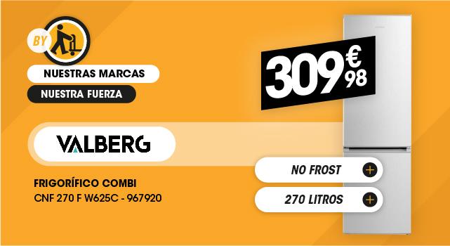 Frigorífico combi Valberg 270L no frost