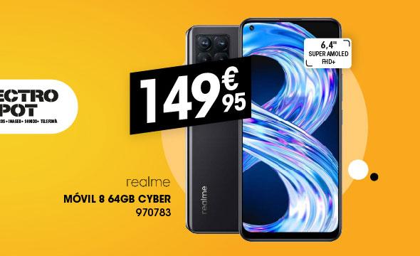 Movil REALME 8 64Gb cyber negro