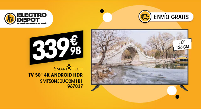 TV 50'' SMARTECH Android HDR