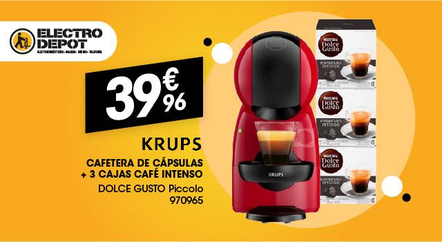 Cafetera de cápsulas KRUPS DOLCE GUSTO PICCOLO + 3 cajas de café