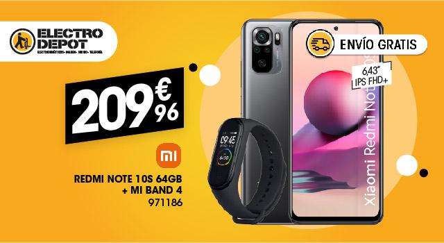 Pack móvil XIAOMI REDMI NOTE 10S 64Gb + Mi Band 4