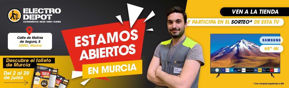 Ya estamos abiertos en Murcia