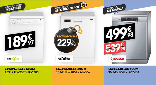 Elige tu lavavajillas en Electro Depot