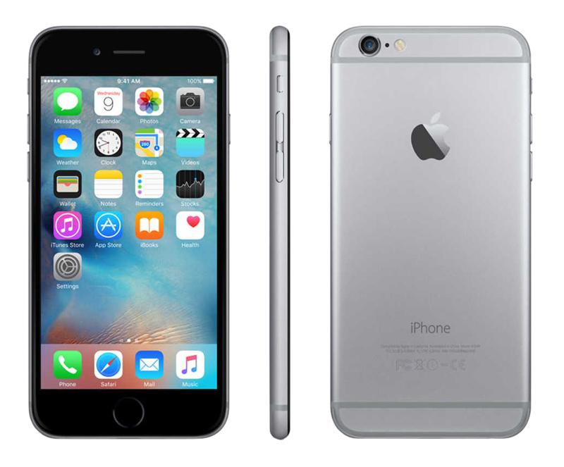 móvil reacondicionado apple ip6 16gb gris sideral rbn a+