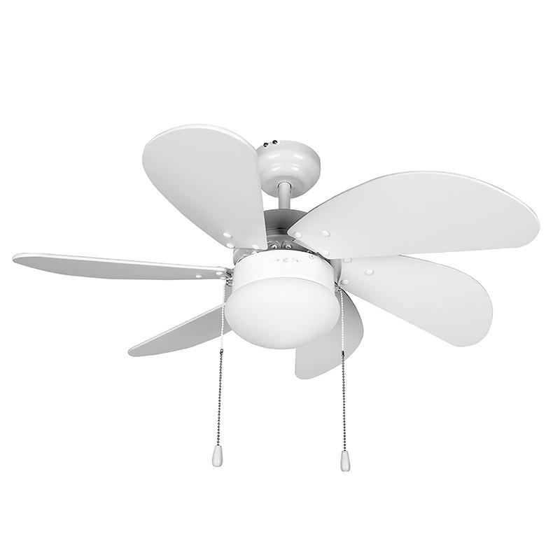 Ventilador De Techo Orbegozo Cp 15076 B 80cm 6 Palas Blanco