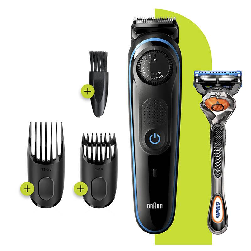 Barbero Braun Bt3240 + Maquinilla Gillette Flexball