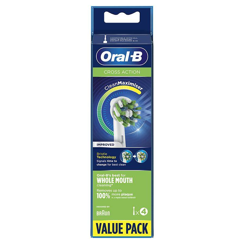 Pack 4 Recambios Cepillo Dental Oral-b Cross Action Clean Max