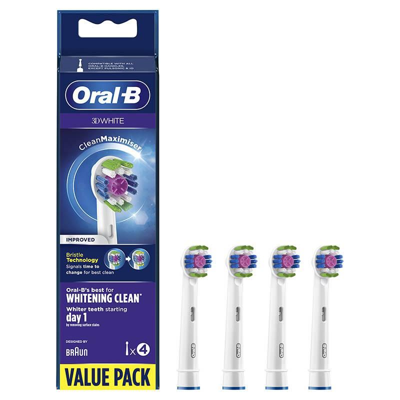 Pack 4 Recambios Cepillo Dental Oral-b 3d Clean Max