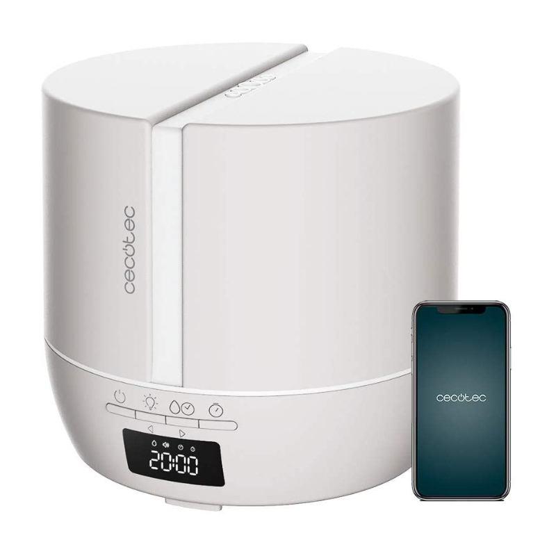 Humidificador Y Altavoz Bluetooth Cecotec Purearoma 550 Connected Sand Blanco