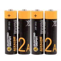 Pack pilas ELECTRO DEPOT Alkaline LR06 AA x 4 uds