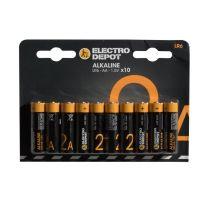 Pack pilas ELECTRO DEPOT Alkaline LR06 AA x 10 uds