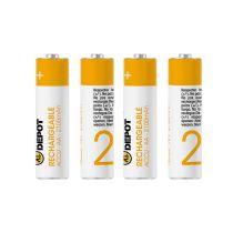 Pack pilas recargables ELECTRO DEPOT LR06 AA x 4 uds 2.100 mAh